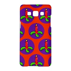Christmas Candles Seamless Pattern Samsung Galaxy A5 Hardshell Case