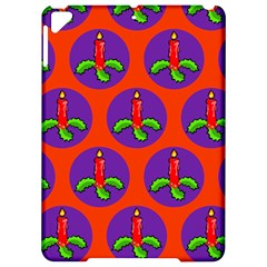 Christmas Candles Seamless Pattern Apple Ipad Pro 9 7   Hardshell Case
