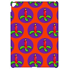 Christmas Candles Seamless Pattern Apple Ipad Pro 12 9   Hardshell Case