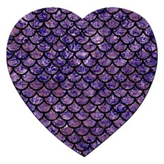Scales1 Black Marble & Purple Marble (r) Jigsaw Puzzle (heart) by trendistuff