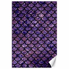 Scales1 Black Marble & Purple Marble (r) Canvas 20  X 30  by trendistuff