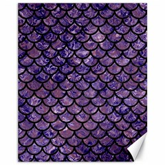Scales1 Black Marble & Purple Marble (r) Canvas 11  X 14