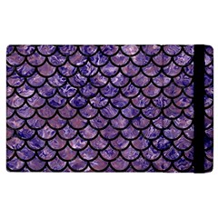 Scales1 Black Marble & Purple Marble (r) Apple Ipad 2 Flip Case by trendistuff
