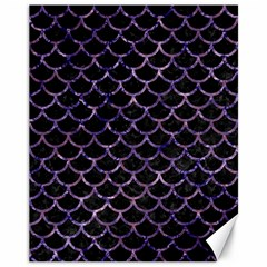 Scales1 Black Marble & Purple Marble Canvas 11  X 14  by trendistuff