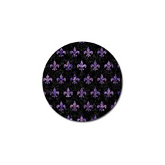 Royal1 Black Marble & Purple Marble (r) Golf Ball Marker