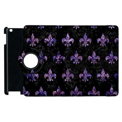 Royal1 Black Marble & Purple Marble (r) Apple Ipad 2 Flip 360 Case by trendistuff
