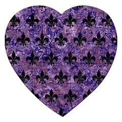 Royal1 Black Marble & Purple Marble Jigsaw Puzzle (heart) by trendistuff