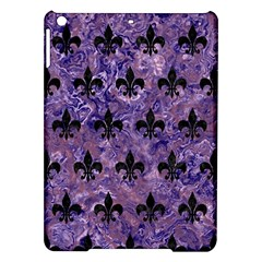 Royal1 Black Marble & Purple Marble Apple Ipad Air Hardshell Case by trendistuff