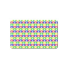 Colorful Curtains Seamless Pattern Magnet (name Card)