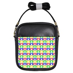 Colorful Curtains Seamless Pattern Girls Sling Bags