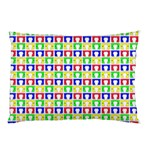 Colorful Curtains Seamless Pattern Pillow Case (Two Sides) Back