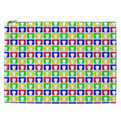 Colorful Curtains Seamless Pattern Cosmetic Bag (xxl)
