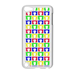 Colorful Curtains Seamless Pattern Apple Ipod Touch 5 Case (white) by Amaryn4rt