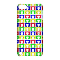 Colorful Curtains Seamless Pattern Apple Ipod Touch 5 Hardshell Case With Stand by Amaryn4rt