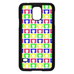 Colorful Curtains Seamless Pattern Samsung Galaxy S5 Case (black) by Amaryn4rt