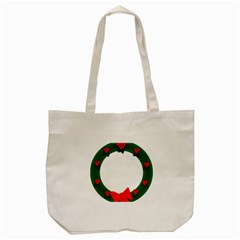 Holiday Wreath Tote Bag (cream)