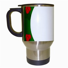 Holiday Wreath Travel Mugs (white) by Amaryn4rt
