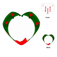 Holiday Wreath Playing Cards (heart)