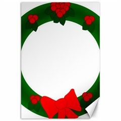 Holiday Wreath Canvas 20  X 30