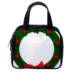 Holiday Wreath Classic Handbags (one Side)