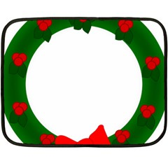 Holiday Wreath Fleece Blanket (mini)