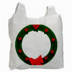 Holiday Wreath Recycle Bag (two Side)