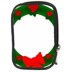 Holiday Wreath Compact Camera Cases by Amaryn4rt