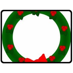 Holiday Wreath Fleece Blanket (large)