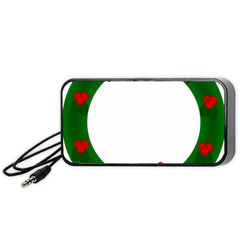 Holiday Wreath Portable Speaker (black)