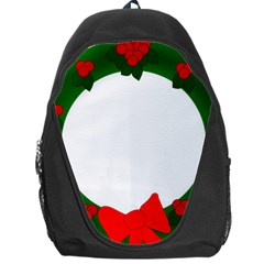 Holiday Wreath Backpack Bag by Amaryn4rt