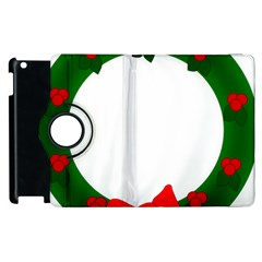 Holiday Wreath Apple Ipad 2 Flip 360 Case by Amaryn4rt