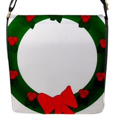 Holiday Wreath Flap Messenger Bag (s)