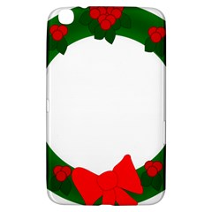 Holiday Wreath Samsung Galaxy Tab 3 (8 ) T3100 Hardshell Case  by Amaryn4rt