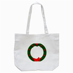 Holiday Wreath Tote Bag (white) by Amaryn4rt