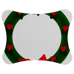 Holiday Wreath Jigsaw Puzzle Photo Stand (bow) by Amaryn4rt