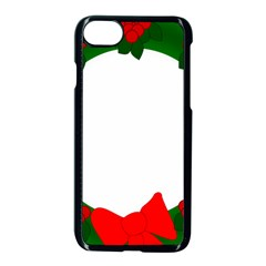 Holiday Wreath Apple Iphone 7 Seamless Case (black)