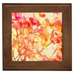 Monotype Art Pattern Leaves Colored Autumn Framed Tiles Front