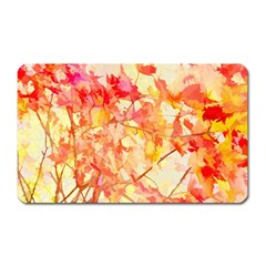 Monotype Art Pattern Leaves Colored Autumn Magnet (rectangular) by Amaryn4rt