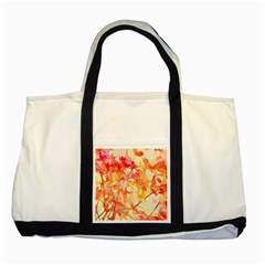 Monotype Art Pattern Leaves Colored Autumn Two Tone Tote Bag by Amaryn4rt