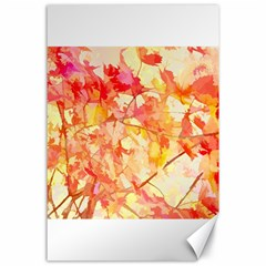 Monotype Art Pattern Leaves Colored Autumn Canvas 24  X 36
