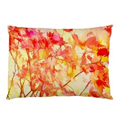 Monotype Art Pattern Leaves Colored Autumn Pillow Case by Amaryn4rt