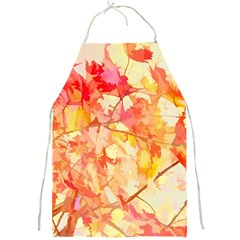 Monotype Art Pattern Leaves Colored Autumn Full Print Aprons by Amaryn4rt