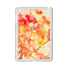 Monotype Art Pattern Leaves Colored Autumn Ipad Mini 2 Enamel Coated Cases by Amaryn4rt