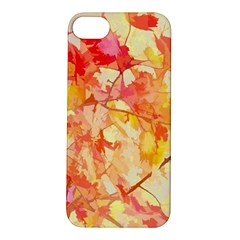 Monotype Art Pattern Leaves Colored Autumn Apple Iphone 5s/ Se Hardshell Case by Amaryn4rt