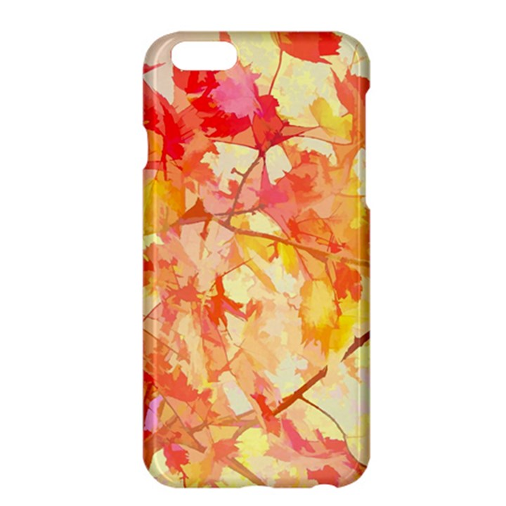 Monotype Art Pattern Leaves Colored Autumn Apple iPhone 6 Plus/6S Plus Hardshell Case