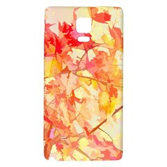 Monotype Art Pattern Leaves Colored Autumn Galaxy Note 4 Back Case