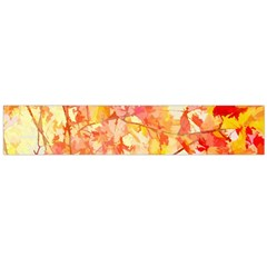 Monotype Art Pattern Leaves Colored Autumn Flano Scarf (large) by Amaryn4rt