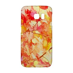 Monotype Art Pattern Leaves Colored Autumn Galaxy S6 Edge