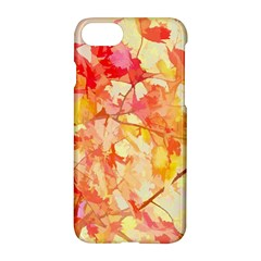 Monotype Art Pattern Leaves Colored Autumn Apple Iphone 7 Hardshell Case by Amaryn4rt