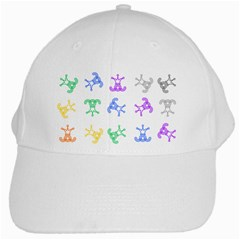 Rainbow Clown Pattern White Cap